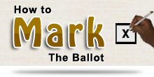 How to mark the ballot paper